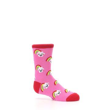 Image of Pink Cloud Rainbow Kid's Dress Socks (side-1-25)