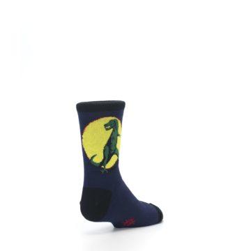 Image of Navy Yellow T-Rex Kid's Dress Socks (side-1-back-21)