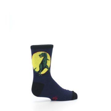 Image of Navy Yellow T-Rex Kid's Dress Socks (side-1-23)