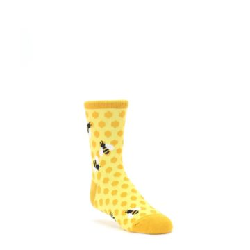 yellow orange child honeycomb bee socks