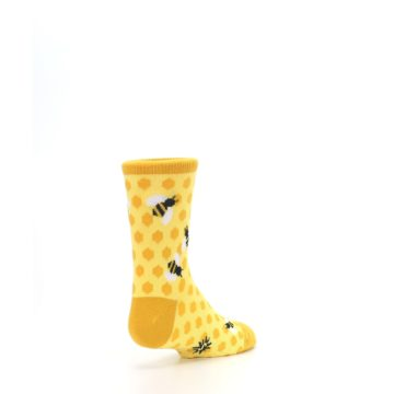 Image of Yellow Honeycomb Bees Kid's Dress Socks (side-1-back-21)