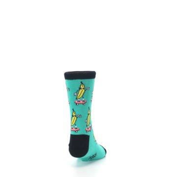 Image of Teal Skateboarding Banana Kid's Dress Socks (back-19)