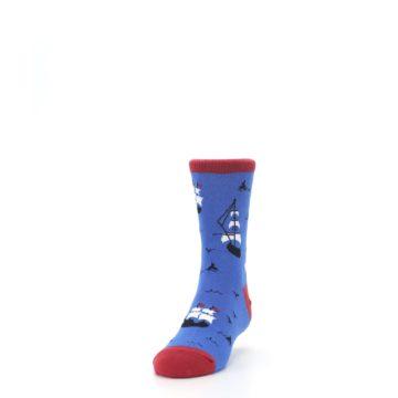 Image of Blue Sailing Ship Kid's Dress Socks (side-2-front-06)