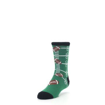 Image of Green Football Field Kid's Dress Socks (side-2-front-07)