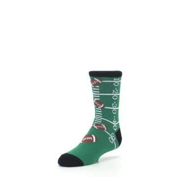 Image of Green Football Field Kid's Dress Socks (side-2-front-08)