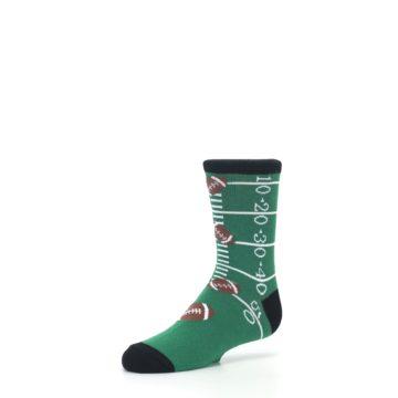 Image of Green Football Field Kid's Dress Socks (side-2-09)