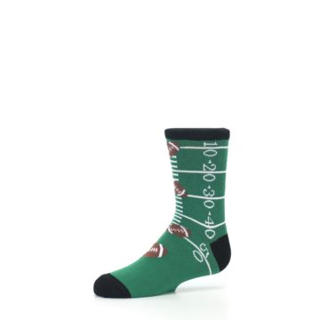 Image of Green Football Field Kid's Dress Socks (side-2-10)