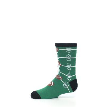 Image of Green Football Field Kid's Dress Socks (side-2-11)