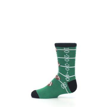 Image of Green Football Field Kid's Dress Socks (side-2-12)