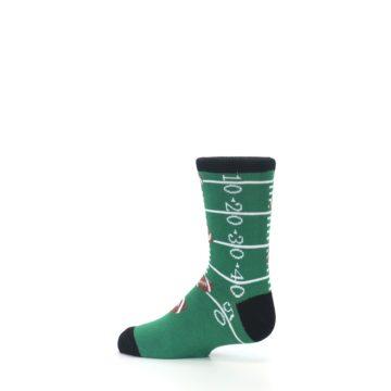 Image of Green Football Field Kid's Dress Socks (side-2-13)
