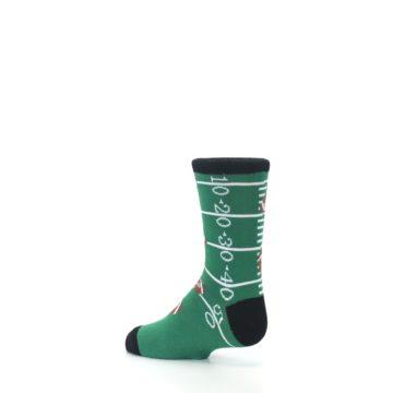 Image of Green Football Field Kid's Dress Socks (side-2-back-14)