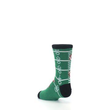 Image of Green Football Field Kid's Dress Socks (side-2-back-15)