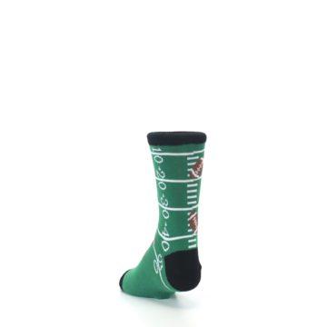 Image of Green Football Field Kid's Dress Socks (side-2-back-16)