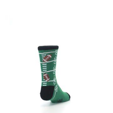 Image of Green Football Field Kid's Dress Socks (side-1-back-20)
