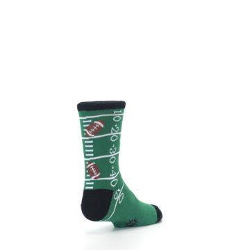 Image of Green Football Field Kid's Dress Socks (side-1-back-21)