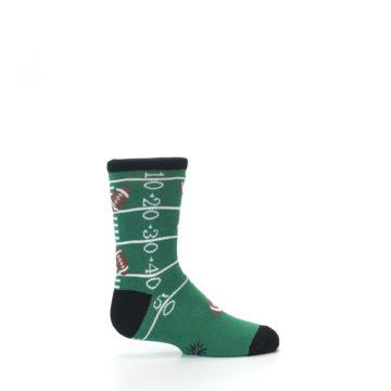 Image of Green Football Field Kid's Dress Socks (side-1-24)