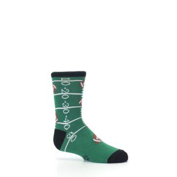 Image of Green Football Field Kid's Dress Socks (side-1-25)
