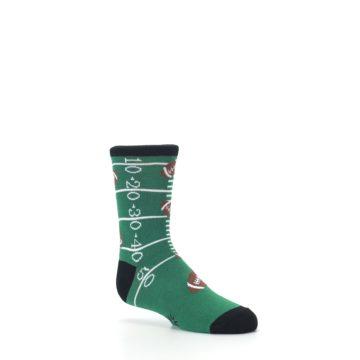Image of Green Football Field Kid's Dress Socks (side-1-26)