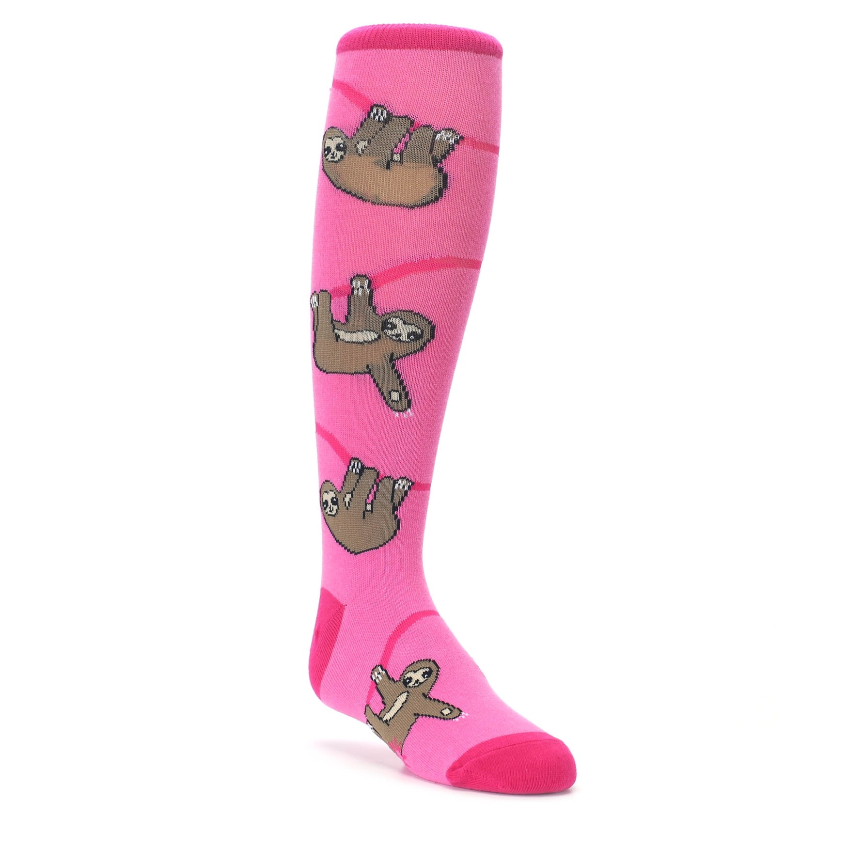 0a5bb8c52bffe pink brown sloths kids novelty dress socks sock it to me
