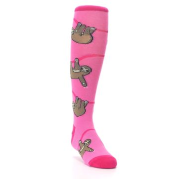 Image of Pink Sloth Kid's Knee High Socks (side-1-front-02)