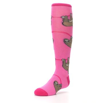 Image of Pink Sloth Kid's Knee High Socks (side-2-front-08)