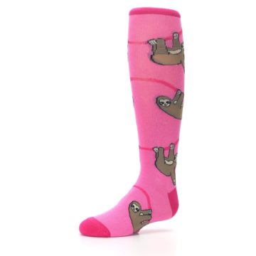 Image of Pink Sloth Kid's Knee High Socks (side-2-09)