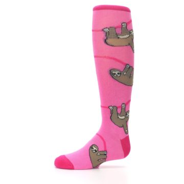 Image of Pink Sloth Kid's Knee High Socks (side-2-10)