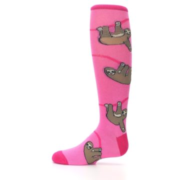 Image of Pink Sloth Kid's Knee High Socks (side-2-11)