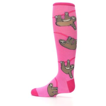 Image of Pink Sloth Kid's Knee High Socks (side-2-12)