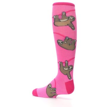 Image of Pink Sloth Kid's Knee High Socks (side-2-13)