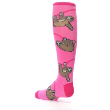 Image of Pink Sloth Kid's Knee High Socks (side-2-back-14)