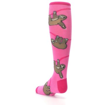 Image of Pink Sloth Kid's Knee High Socks (side-2-back-15)