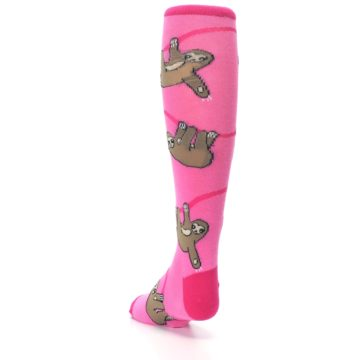 Image of Pink Sloth Kid's Knee High Socks (side-2-back-16)