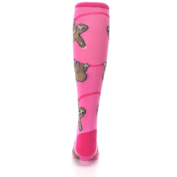 Image of Pink Sloth Kid's Knee High Socks (back-18)