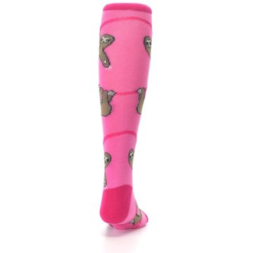 Image of Pink Sloth Kid's Knee High Socks (back-19)