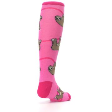 Image of Pink Sloth Kid's Knee High Socks (side-1-back-21)