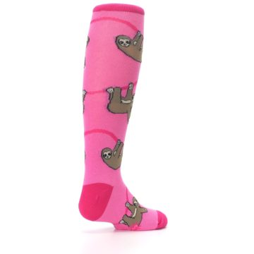 Image of Pink Sloth Kid's Knee High Socks (side-1-back-22)