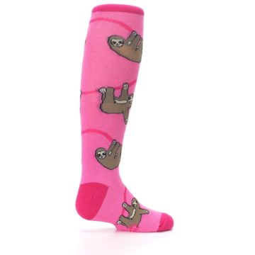 Image of Pink Sloth Kid's Knee High Socks (side-1-23)