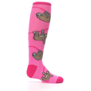 Image of Pink Sloth Kid's Knee High Socks (side-1-24)