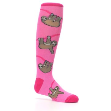 Image of Pink Sloth Kid's Knee High Socks (side-1-25)