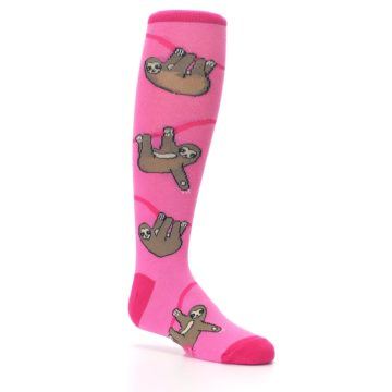 Image of Pink Sloth Kid's Knee High Socks (side-1-26)