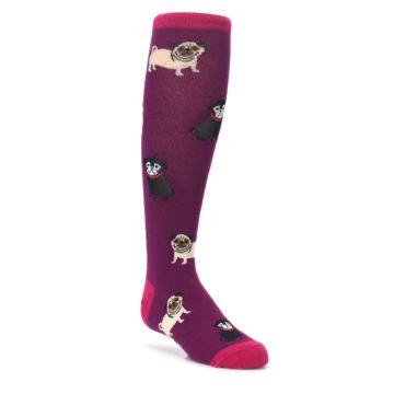 Purple Pug Life Kid's Knee High Socks
