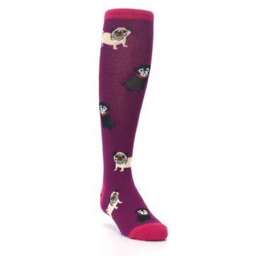 Image of Purple Pug Life Kid's Knee High Socks (side-1-front-02)