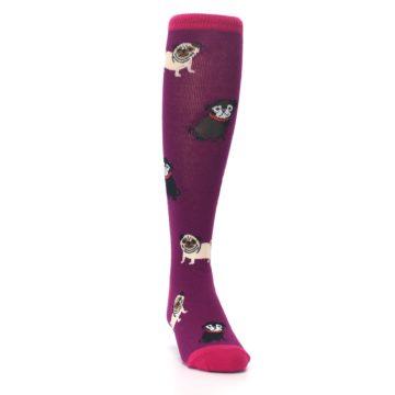 Image of Purple Pug Life Kid's Knee High Socks (side-1-front-03)