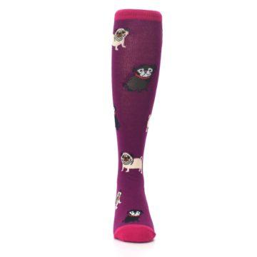 Image of Purple Pug Life Kid's Knee High Socks (front-04)