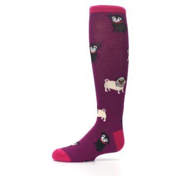Image of Purple Pug Life Kid's Knee High Socks (side-2-10)
