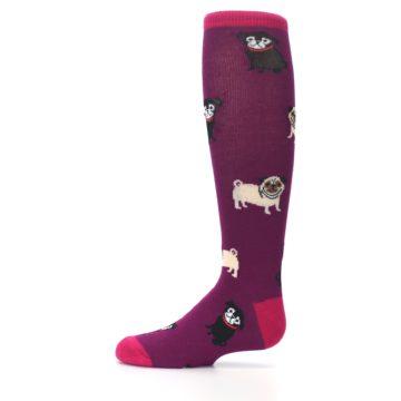 Image of Purple Pug Life Kid's Knee High Socks (side-2-11)