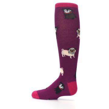 Image of Purple Pug Life Kid's Knee High Socks (side-2-12)