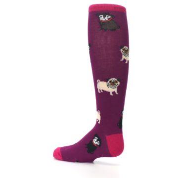 Image of Purple Pug Life Kid's Knee High Socks (side-2-13)