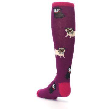 Image of Purple Pug Life Kid's Knee High Socks (side-2-back-15)